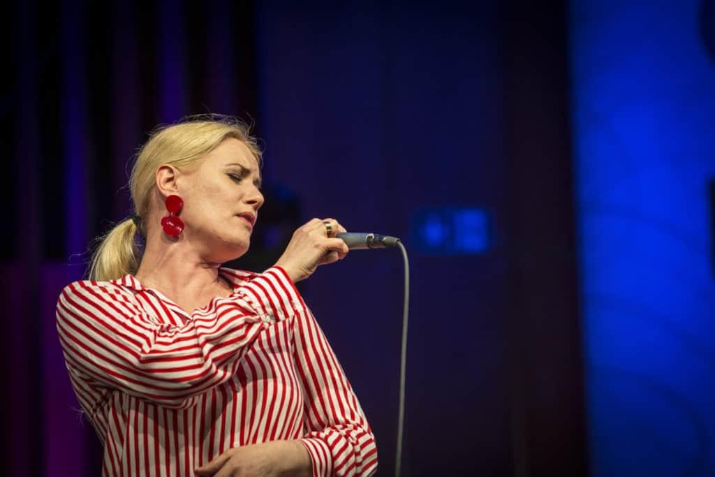Fotoaufnahmen während des Jazzfest Bonn 2018, hier: Ulita Knaus am 29.04.2018 in der Aula der Universität Bonn