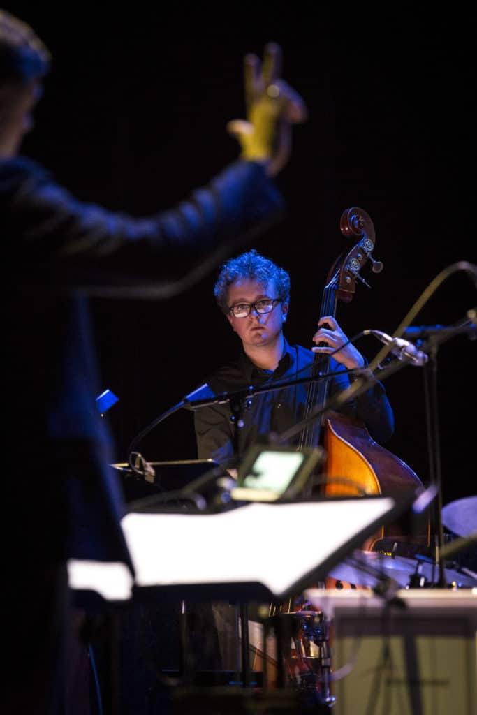 Fotoaufnahmen während des Jazzfest Bonn 2018, hier: das Bundesjazzorchester am 07.05.2018 in der Oper Bonn