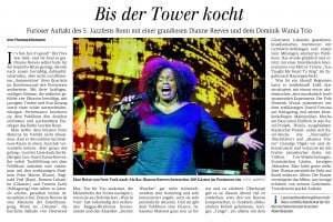 Konzert Post-Tower 22.05.2014 Dianne Reeves, Dominik Wania Trio Jazzfest Bonn