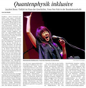 Konzert am 24.05.2014, Bundeskunsthalle Youn Sun Nah, Ulf Wakenius, Andromeda Mega Express Orchestra Jazzfest Bonn