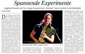 Konzert am 27.05.2014 in Brotfabrik Niescier / Zanchini / Senni und Roger Hanschel Jazzfest Bonn