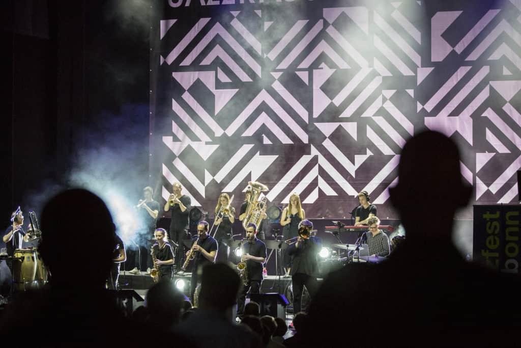 Fotoaufnahmen während des Jazzfest Bonn 2019, hier: die JazzRausch Big Band am 24.05.2019 in der Oper Bonn