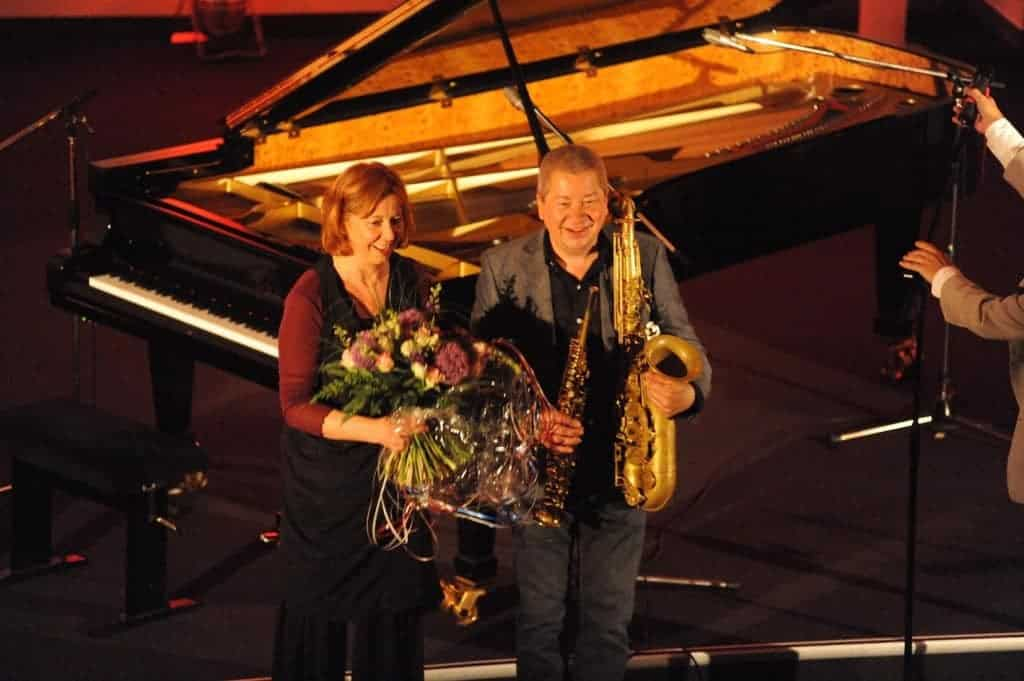 Rita Marcotulli und Andy Sheppard Schlussapplaus