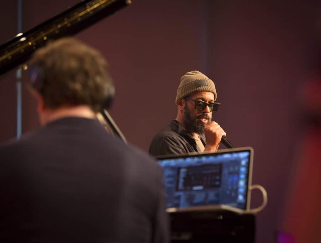 Fotoaufnahmen während des Jazzfest Bonn 2019, hier: Samy Deluxe und Florian Weber im Telekomforum Bonn am 31.05.2019